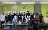 Consumer studies pupils at Portland Secondary School in their upgraded classroom. Picture: Kaylynn Palm/Eyewitness News