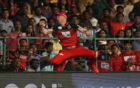 AB de Villiers pulls of an amazing catch on 17 May 2018 during an Indian Premier League match. Picture: IPL