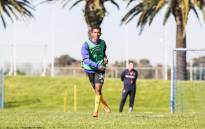 Gift Links at his first training session with Cape Town City. Picture: @CapeTownCityFC/Twitter