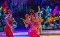 Cast members from 'Little Mermaid' during the Disney on Ice Magical Ice Festival. Picture: Kayleen Morgan/EWN