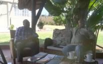 Mubanga Lumpa (L) and professor Vuyisile Msila (R) at the Mariam Tladi Reading and Book Club event. Picture: Winnie Theletsane/EWN