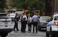 Chicago police officers and detectives investigate a shooting where multiple people were shot on Sunday, August 5, 2018 in Chicago, Illinois. Picture: AFP