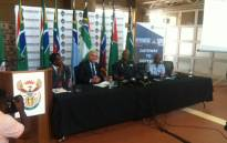 SAAF senior officials at a media briefing giving details surrounding the proposed new VVIP jet for President Jacob Zuma on 10 November 2015, in Pretoria. Picture: Kgothatso Mogale/EWN.