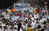 Mexicans protest against President Andres Manuel Lopez Obrador in Mexico City on 5 May 2019. Picture: AFP
