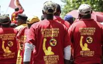 Numsa marched to the Public Enterprises Ministry in Pretoria to demand government to save Denel. Picture: Abigail Javier/EWN
