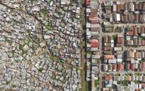 An aerial view of Vukuzenzele/Sweet Home in Cape Town. Picture: Johnny Miller