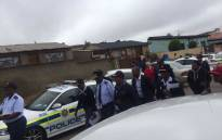 National Police Commissioner Khehla Sithole visits a Soweto house believed to be drug lab. Picture: Kgomotso Modise/EWN