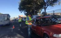 Traffic officials conduct checks in Mitchells Plain on 18 April 2019. Picture: Kaylynn Palm/EWN