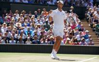Novak Djokovic celebrates a point during his Wimbledon final match against Kevin Anderson on 15 July 2018. Picture: @Wimbledon/Twitter