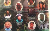 The 10 victims who lost their lives in the bus crash on route to Johannesburg from the ANC menifesto launch in PE. Picture: Kgothatso Mogale/EWN.