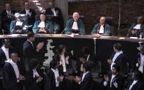 Justice Edwin Cameron applauded in the Constitutional Court where he was celebrated for his contributions to the South African justice system. Cameron has retired after 25 years. Picture: Abigail Javier/EWN