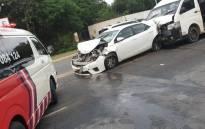 Multiple vehicle collision on 11 November 2020 left 17 people injured. Picture: @ER24EMS/Twitter