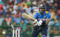 Sri Lanka's Angelo Mathews in action. Picture: AFP