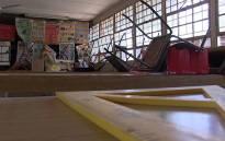 An empty school science classroom. Picture: Reinart Toerien/EWN
