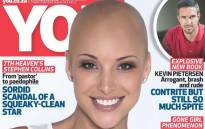 The magazine's cancer campaign features Lee-Anne Liebenberg on the cover. Picture: Facebook.