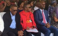 ANC secretary-general Ace Magashule (L) at the commemoration of the 26th year since SACP leader Chris Hani was assassinated. Picture: Robinson Nqola/EWN