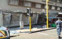 Multiple people have been injured while many are believed to be trapped in a structural collapse in Durban central. Picture: Arrive Alive/Twitter.