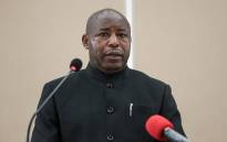 Evariste Ndayishimiye, Burundi's elected President from the ruling party, the National Council for the Defense of Democracy - Forces for the Defense of Democracy (CNDD-FDD), addresses the nation after signing the book of condolences at the state house in Bujumbura on 13 June 2020. Picture: AFP
