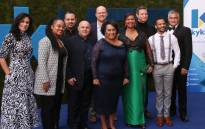 The cast of the movie pose for a picture with Ellen Pakkies at the movie premiere of 'Ellen: Die Ellen Pakkies storie'. Picture: Bertram Malgas/EWN