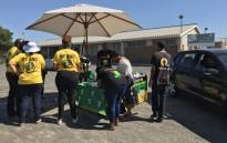 ANC officials at a voter registration centre in Kraaifontein. Picture: Kevin Brandt/EWN.