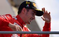 Winner Charles Leclerc of Ferrari arrives on the podium after the Italian Formula One Grand Prix at the Autodromo Nazionale circuit in Monza on 8 September 2019. Picture: AFP