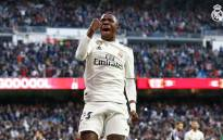 Brazilian teenager Vinicius Jr celebrates after scoring a goal during Real Madrid's La Liga match against Real Valladolid. Picture: @realmadriden/Twitter.