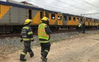 Officials were on the scene to investigate after a man was electrocuted at Philippi train station in Cape Town. Picture: Kaylynn Palm/EWN.