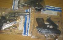 FILE: Confiscated firearms. Picture: Supplied