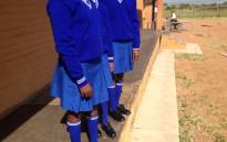 About a hundred pupils at the Tiyelelani Secondary School in Soshanguve received new uniforms as part of the Gauteng government's Bana Pele project. Picture: Barry Bateman/EWN.