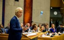 FILE: Dutch far-right PVV party leader Geert Wilders addresses the House of Representatives in The Hague on 19 September 2018 during the General Political Consideration. Picture: AFP