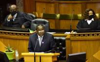 Finance Minister Tito Mboweni delivers his Medium-Term Budget Policy Speech in Parliament on 28 October 2020 in Cape Town. Picture: GCIS