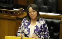 Minister of Public Works and Infrastructure Patricia De Lille tabling her department budget vote in Parliament on 10 July 2019. Picture: @DepPublicWorks/Twitter