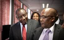 President Cyril Ramaphosa and Home Affairs Minister Aaron Motsoaledi at the Home Affairs head office in Tshwane on 4 October 2019. Picture: Xanderleigh Dookey/EWN