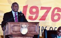 President Cyril Ramaphosa delivers the keynote address during National Youth Day at the Polokwane Cricket Club in Polokwane, Limpopo. Picture: GCIS.