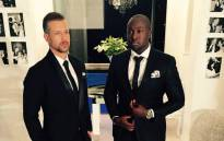 South African Broadcasting Corporation (SABC)'s Top Billing presenters Simba Mhere and Jonathan Boynton-Lee. Picture: Facebook.