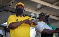 ANC President Cyril Ramaphosa on the campaign trail in Tshwane on 15 October 2021. Picture: Xanderleigh Dookey Makhaza