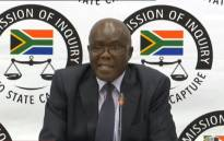 A YouTube screengrab shows Peter Thabethe, the former head of the Free State Agriculture Department, at the state capture inquiry on 28 October 2019.