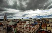 View of large gray clouds over Havana before the passage of Tropical Storm Elsa, on July 5, 2021. Picture: Yamil Lage / AFP