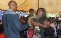 FILE: Prophet Lethebo Rabalago uses Doom on one of his congregants. Picture: Facebook.com