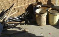 FILE: Mining equipment confiscated by the police from illegal miners arrested near Secunda. Picture: @SAPoliceService/Twitter