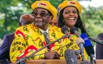 FILE: Former Zimbabwe President Robert Mugabe (left) and his wife Grace Mugabe at a Zanu-PF rally on 8 November, 2017. Picture: AFP
