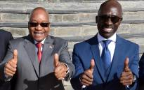 FILE: President Jacob Zuma and Finance Minister Malusi Gigaba at Parliament for the presentation of the 2017 Medium Term Budget Policy Statement on 25 October 2017. Picture: GCIS.
