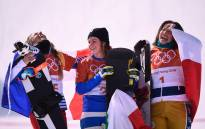 (L-R) France's Julia Pereira De Sousa Mabileau, Italy's Michela Moioli and Czech Republic's Eva Samkova on the podium after the women's snowboard cross big final at the Phoenix Park during the Pyeongchang 2018 Winter Olympic Games on 16 February, 2018 in Pyeongchang. Picture: AFP