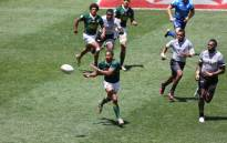 Ruhan Nel scores a try. Picture: Twitter/Springbok Sevens