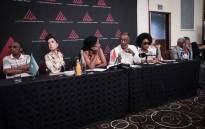 The Living Legends at a press conference in Johannesburg. Picture: Abigail Javier/EWN