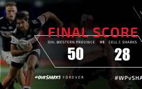 Western Province vs The Sharks on 29 September. Picture: @TheSharksZA/Twitter.