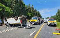 Twelve people were injured in a crash on the N2 between Richards Bay and Mtubatuba in KwaZulu-Natal around 10am on New Year's Day.  Picture: Arrive Alive.