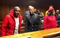 Economic Freedom Fighters leader Julius Malema in the Bloemfontein Magistrates Court on 21 June 2019/. Picture: @EFFSouthAfrica/Twitter.