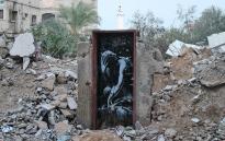 Bomb damage, Gaza City. Picture: www.banksy.co.uk