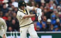 Australia's Steve Smith bats after umpires removed the bails due to strong winds on the first day of the fourth Ashes cricket Test match between England and Australia at Old Trafford in Manchester, north-west England on 4 September 2019. Picture: AFP